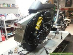 Ammortizzatore Stratos regolabile Lambretta DL 125 - Custom Bergamo 02