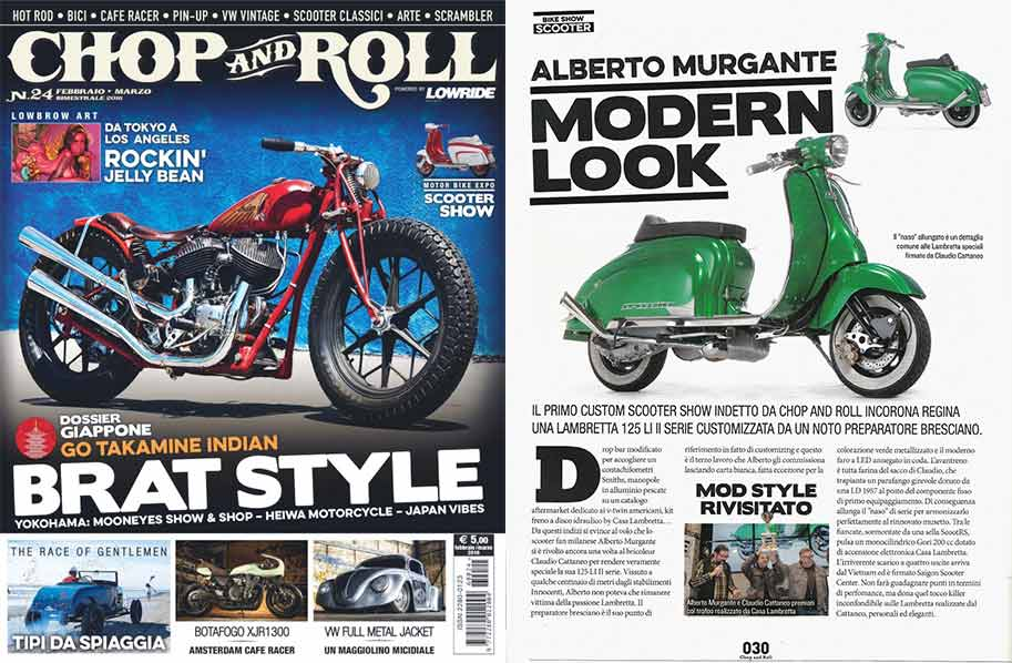 Custom Lambretta su Chop and Roll N.24 del 2016