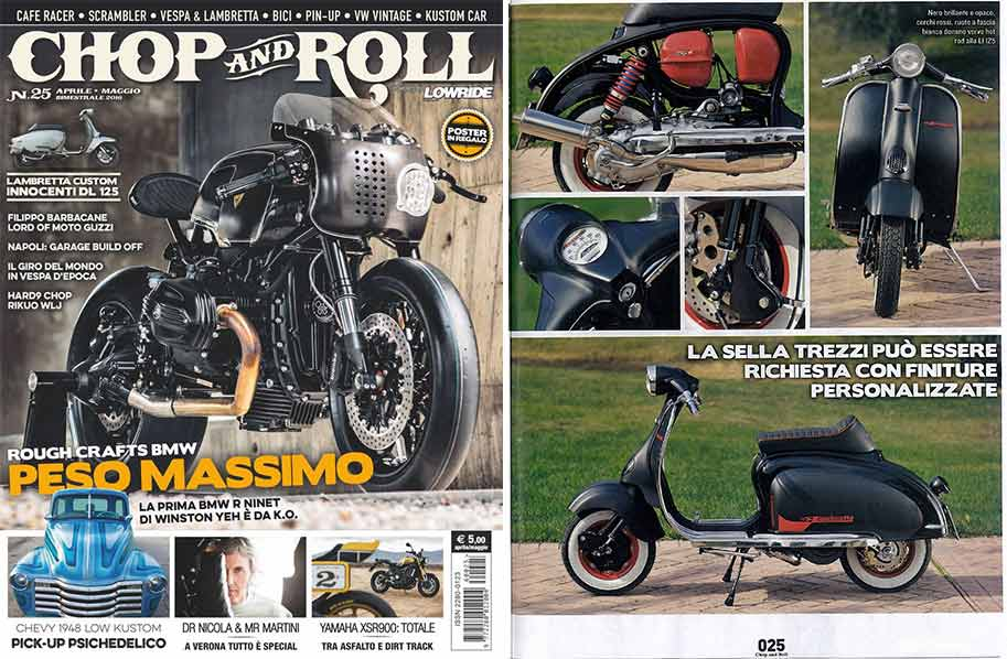 Custom Lambretta su Chop and Roll N.25 del 2016